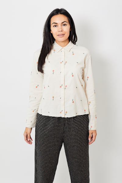 Forte Forte Embroidered Flannel Shirt