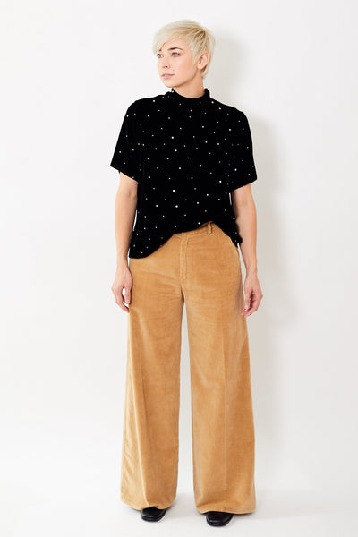 Forte Forte Wide Slubbed Cotton Velvet Pants