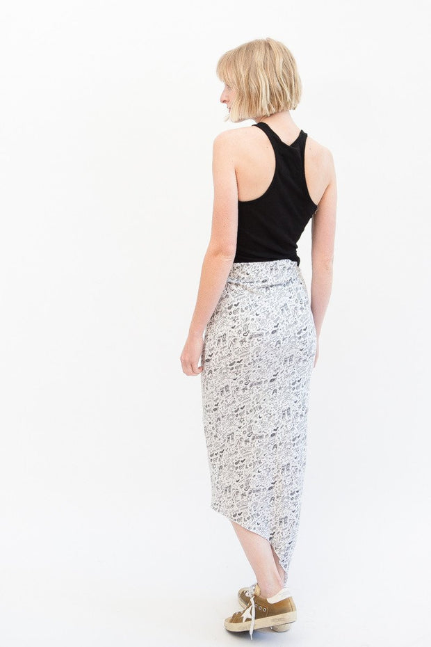 Frank & Eileen Tee Lab Asymmetrical Long Maxi Skirt