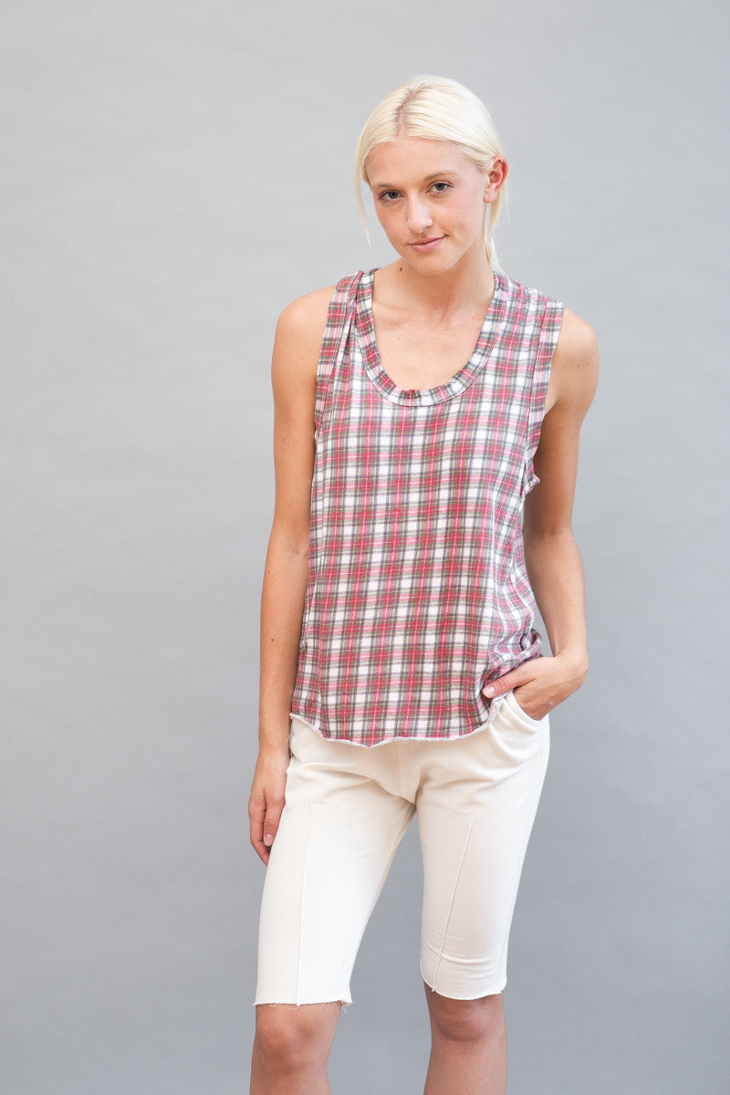 Frank & Eileen Tee Lab Core Muscle Tee Plaid - grethen house