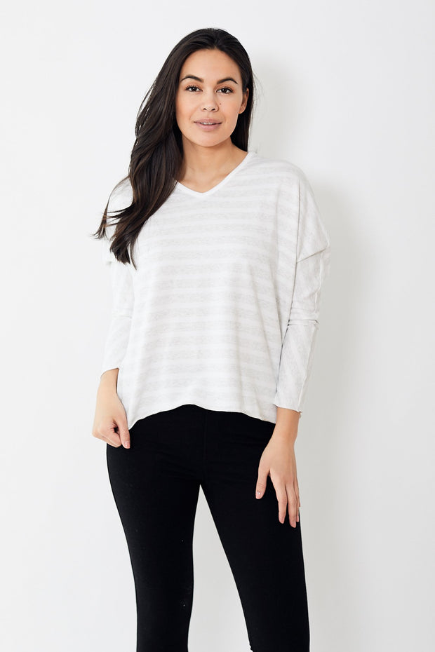 Frank & Eileen Tee Lab Deep V Neck Lightweight Sweatshirt