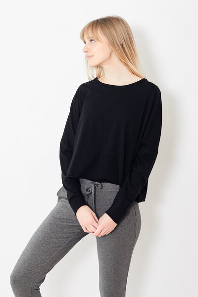 Frank & Eileen Tee Lab Long Sleeve Crop Tee