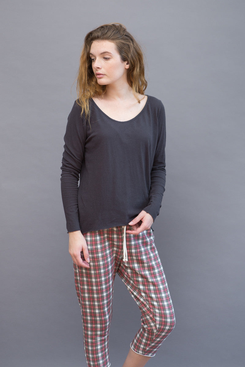 Frank & Eileen Tee Lab Long Sleeve Neck Twist Seam - grethen house