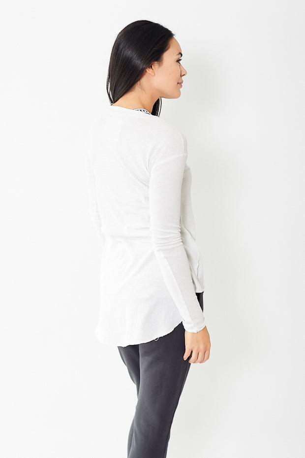 Frank & Eileen Tee Lab Long Sleeve Tee With Shirttail