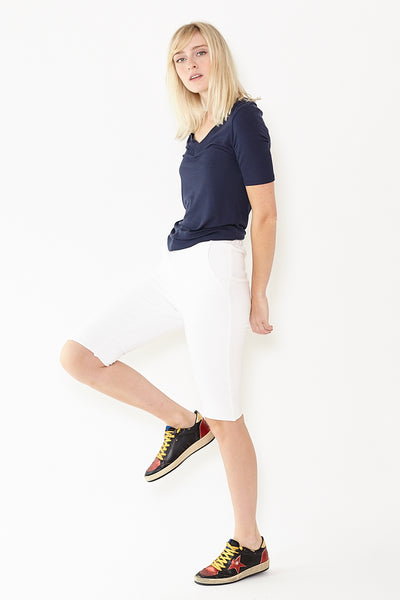Frank & Eileen Tee Lab Supercrop Raw Hem Sweat