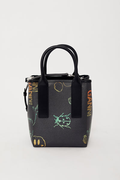 Ganni Coated Canvas Tote Bag