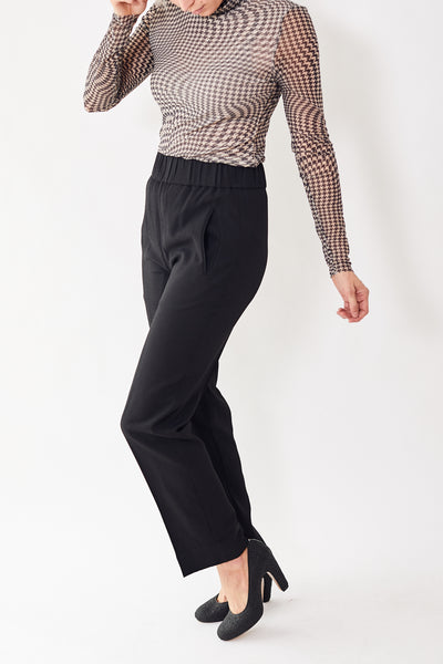 Ganni Heavy Crepe Pull On Pants