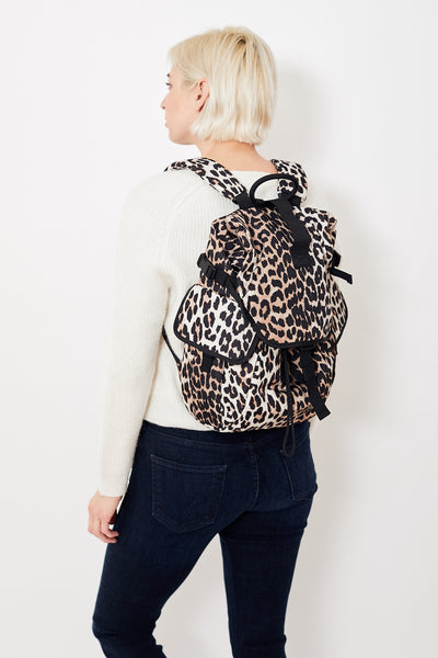 Ganni Recycled Tech Fabric Backpack