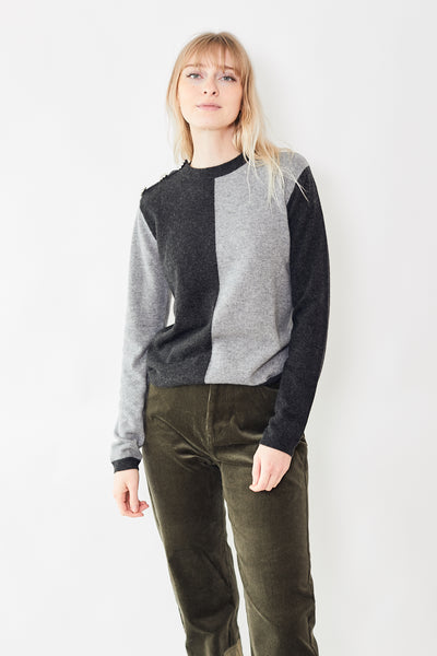 Ganni Cashmere Color Block Pullover