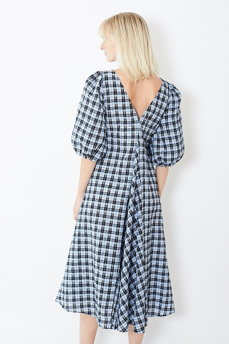 Ganni Charron Plaid Dress