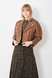Ganni Grain Leather Jacket