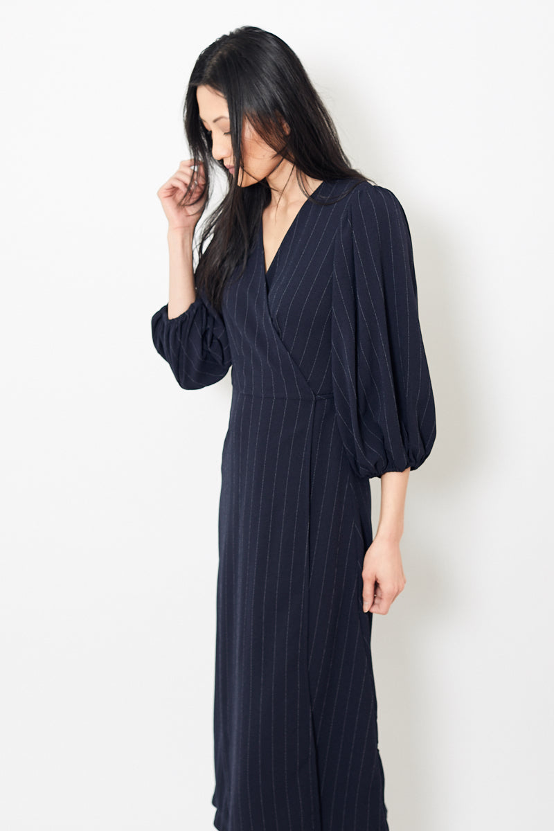 Ganni Heavy Crepe Wrap Dress