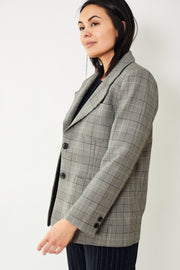 Ganni Plaid Suiting Blazer