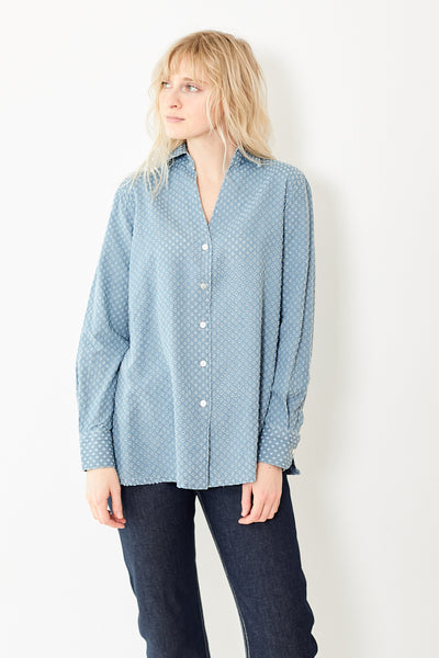 Giangi Barbara Denim Eyelet Shirt