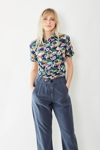 Giangi Simona Hawaiian Short Sleeve Button Up