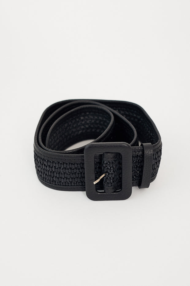 Golden Goose Raffia Belt