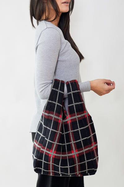 Hansel From Basel Plaid Shopper Bag