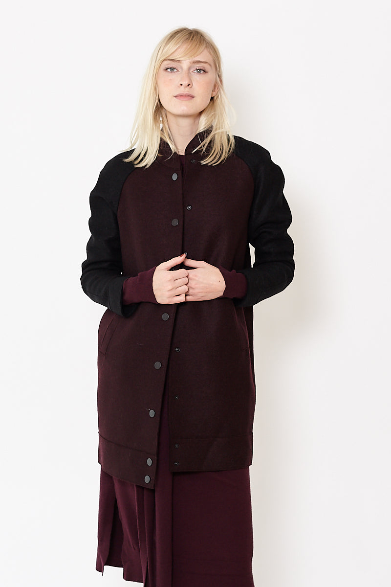 Harris Wharf London Bomber Coat Bicolour Pressed Wool