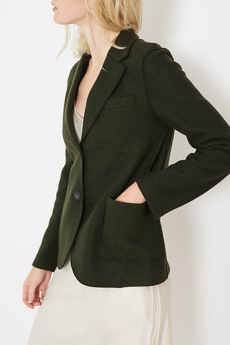 Harris Wharf London Stand Up Collar Boyfriend Blazer