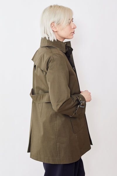 Herno Double Breasted Short Trench Coat