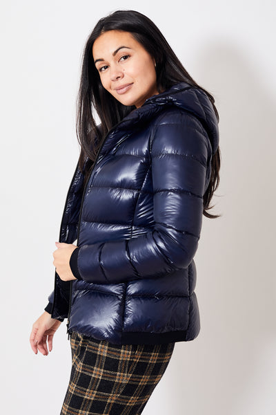 Herno Packable Lightweight Puffer w/Removable Hood
