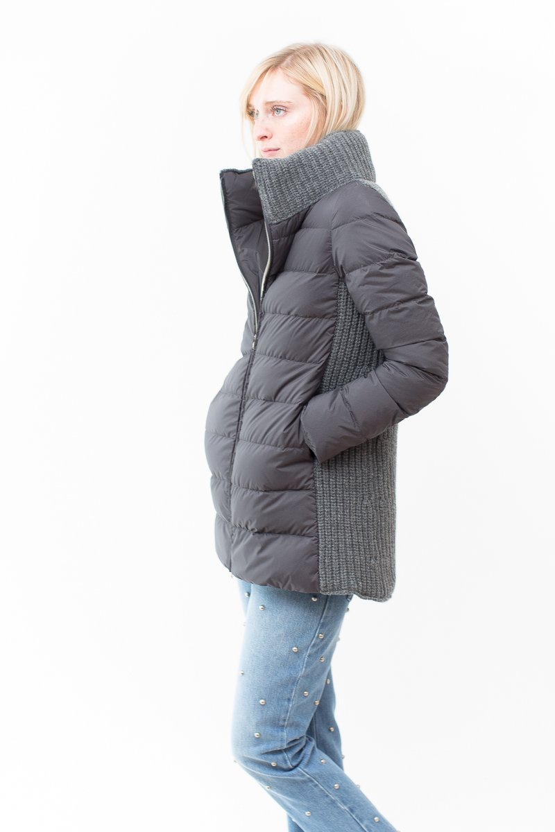Herno Puffer with Knit Back