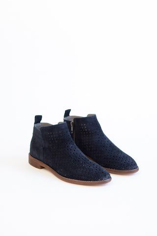 Hudson Shoes Suede Perforated Bootie