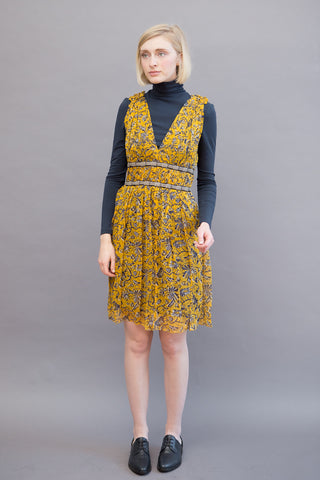 Isabel Marant Étoile Balzan Print Double V Dress