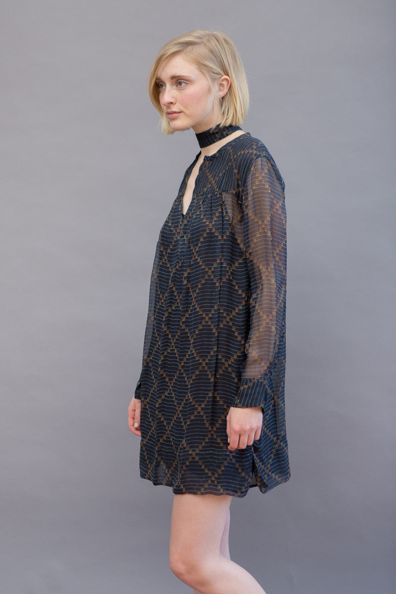 Isabel Marant Étoile Bertha Long Sleeve Dress With Slit