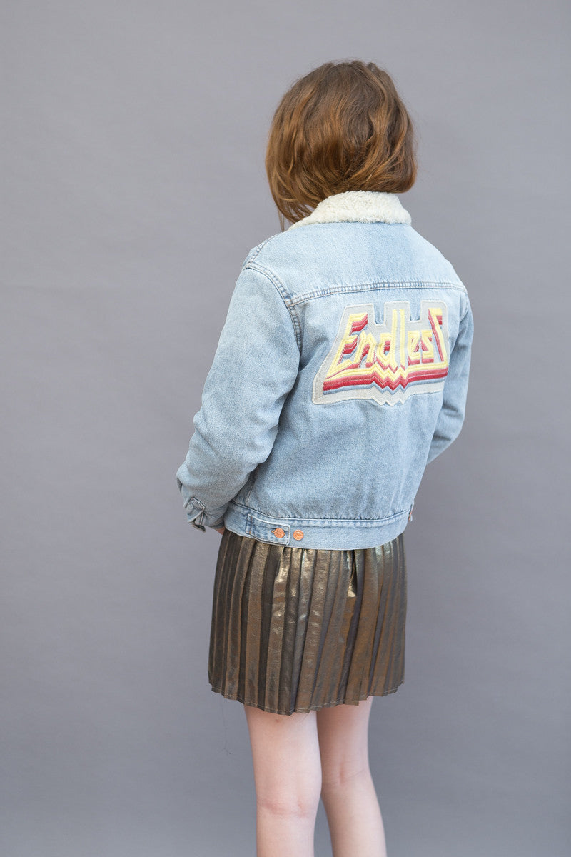 Isabel Marant Étoile Camden Embroidered Denim Jacket