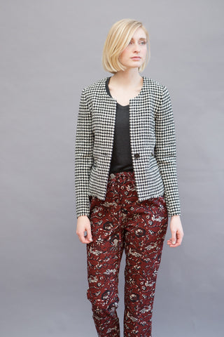 Isabel Marant Étoile Lyra 1 Button Houndstooth