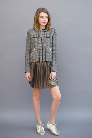 Isabel Marant Étoile Manda Pleated Lame Mini Skirt - grethen house