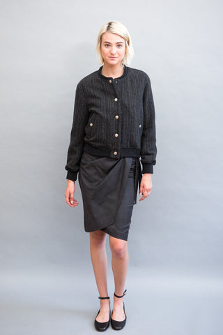 Isabel Marant Étoile Natacha Tie Plaid Skirt - grethen house