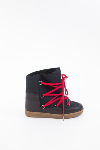 Isabel Marant Étoile Nowles Flannel Carry Over Boots