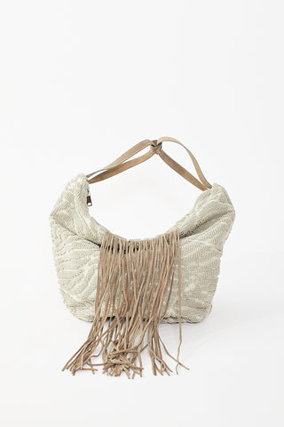 Isota Igea Half Moon Bag with Fringes