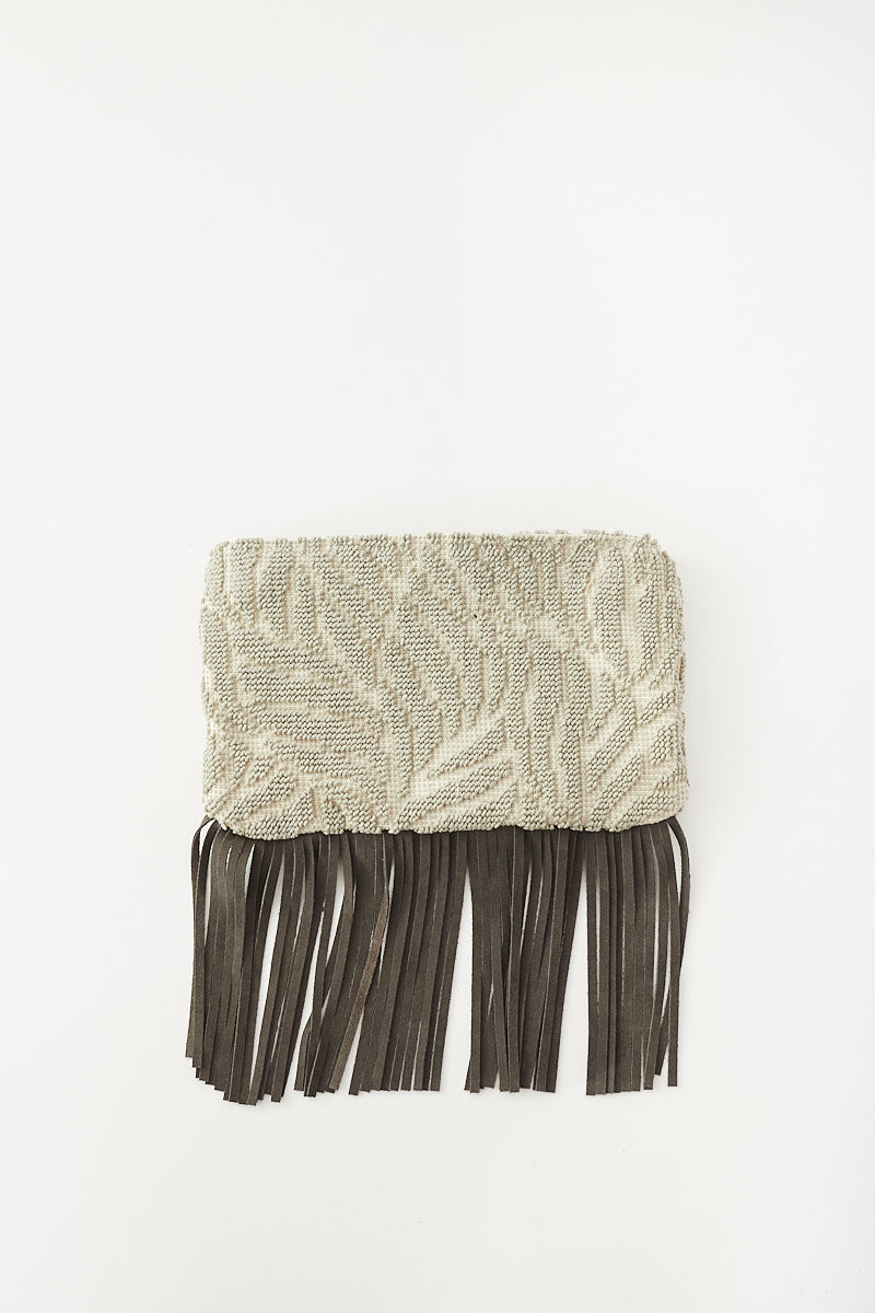Isota Laura Wristlet Clutch With Leather Fringes