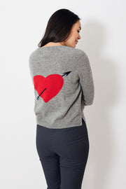 Jumper 1234 Big Arrow Heart Sweat