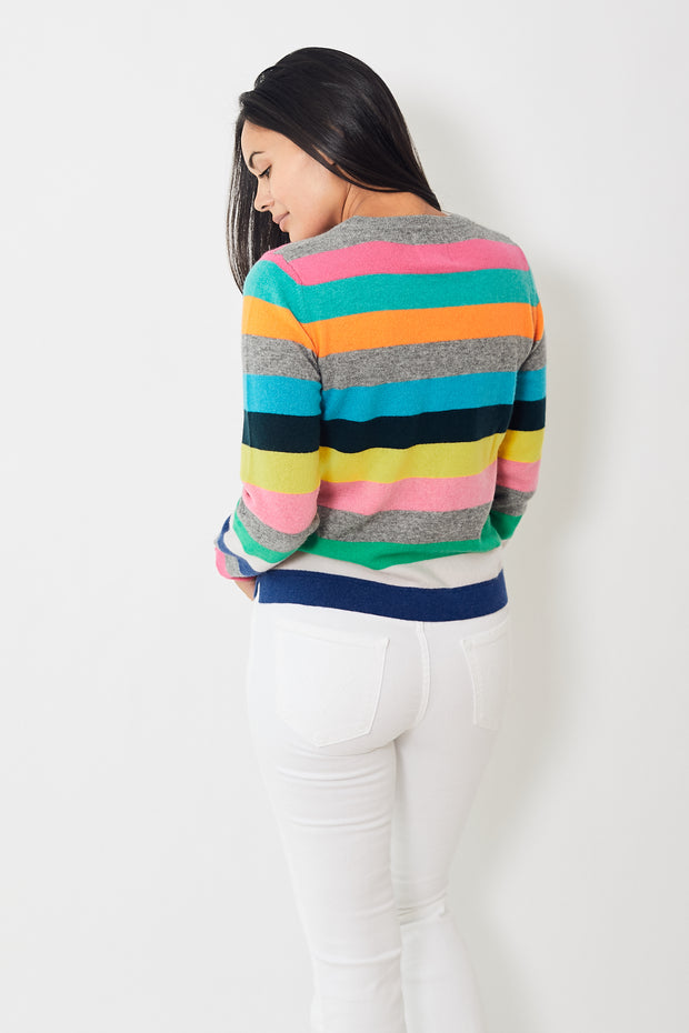 Jumper 1234 Multi Stripe Split Hem Crew