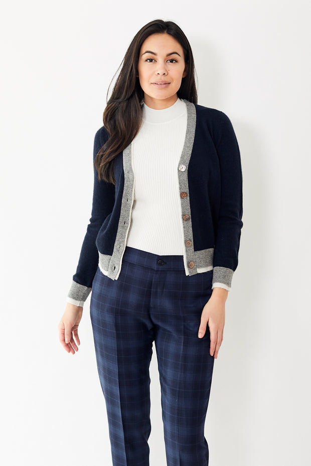 Jumper 1234 Small Double Rib Cardigan