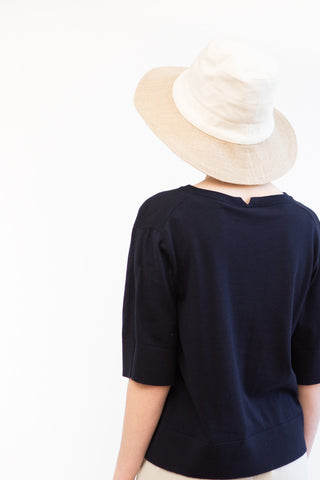 Tsuyumi Cotton/Jute Wide Brim Hat