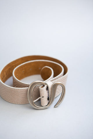 Kim White French Curve Belt - grethen house