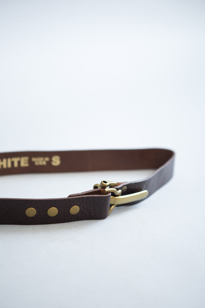 Kim White Latch Belt