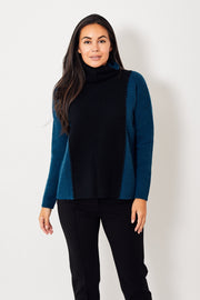 Kokun Lace Up Cowl Neck Sweater