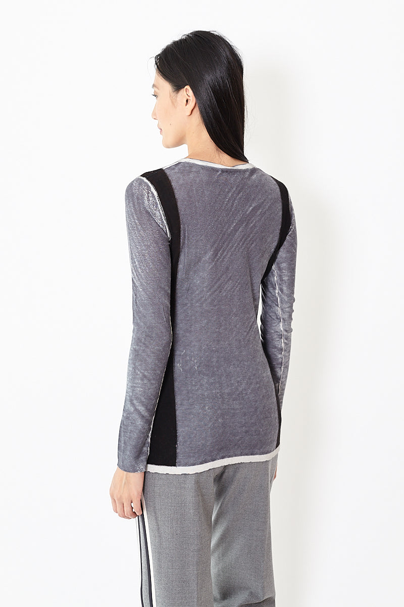 Kokun OD Side Colorblock Sweater