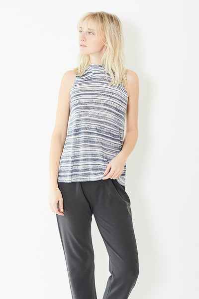Kokun Sleeveless Mock Neck Top