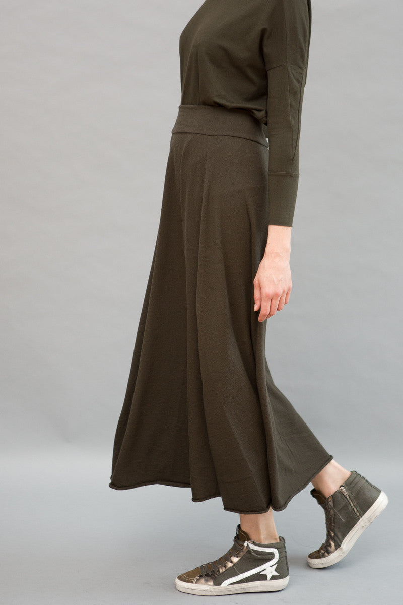 Labo.Art Long Fuller Wool Skirt - grethen house