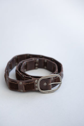 Kim White Suede/Leather Woven Belt - grethen house
