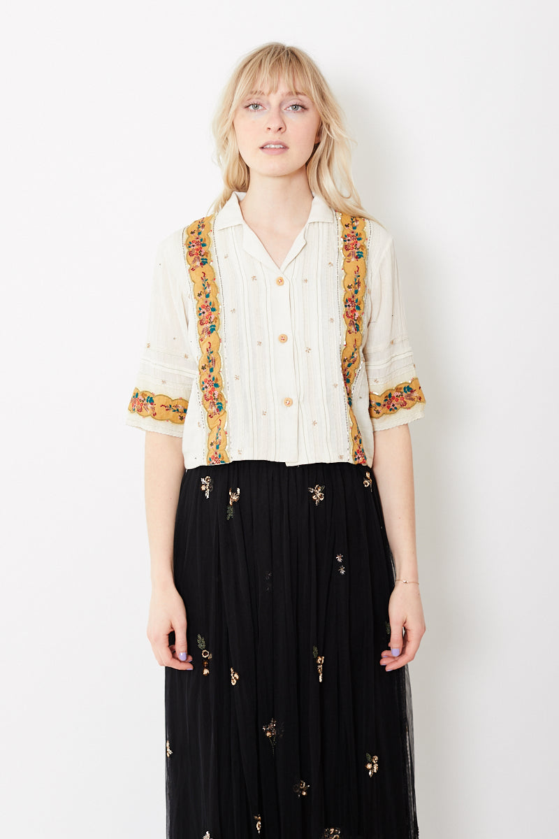 Let Me Be Camellia and the Fireflies Blouse