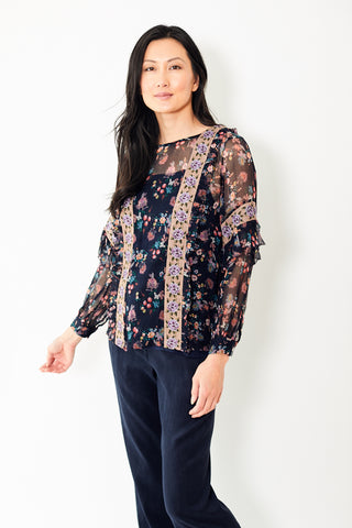 Let Me Be Flora Seashore Serenity Blouse