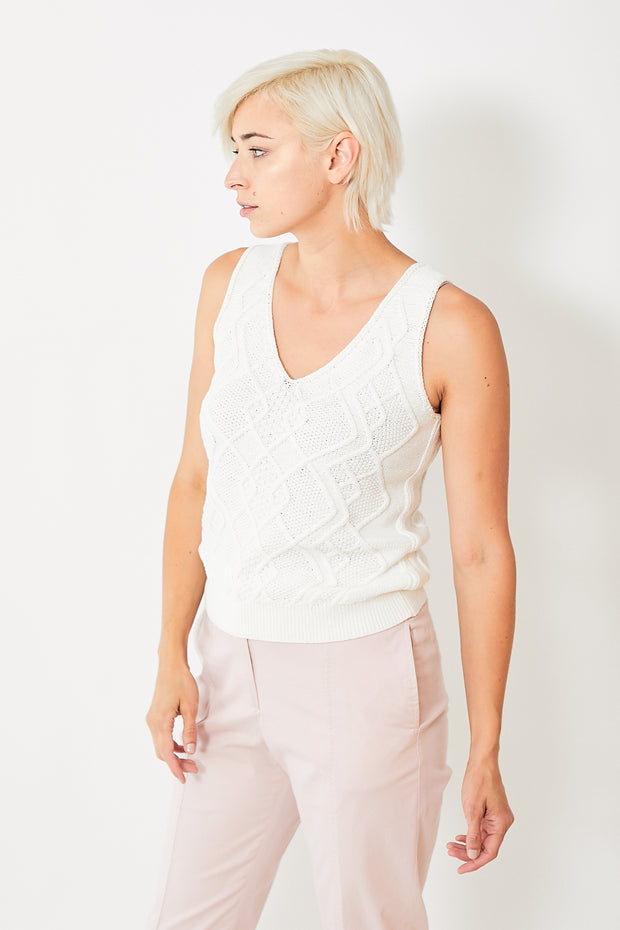 Lilla P Cable Knit Tank